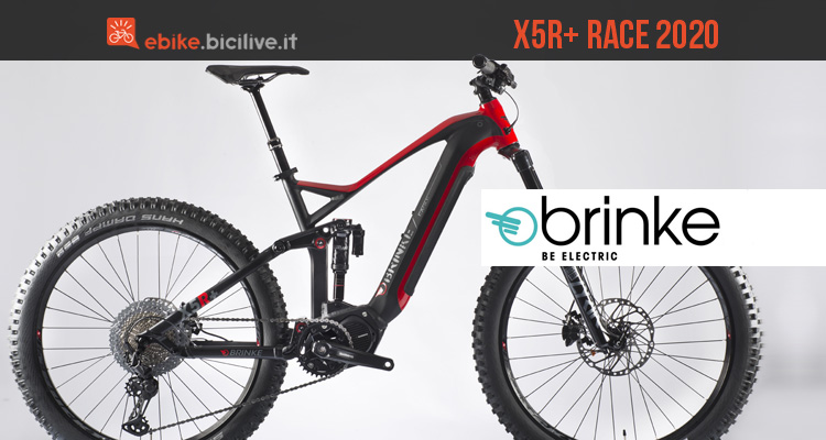 Mountain bike elettrica Brinke X5R+ Race 2020