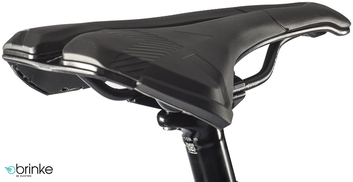 La sella montata sulla ebike Brinke X5R+ Race 2020