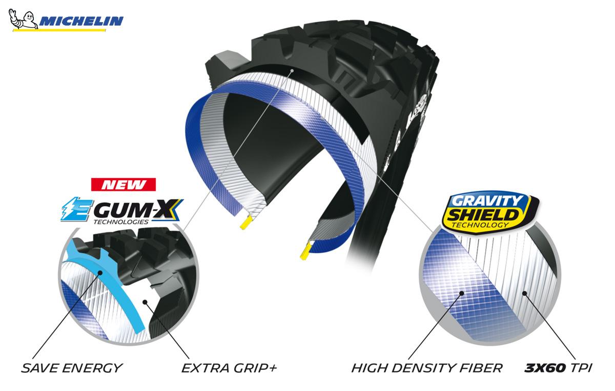 Sezione, caratteristiche, tecnologie e benefici del pneumatico per e-MTB Michelin E-Wild Front