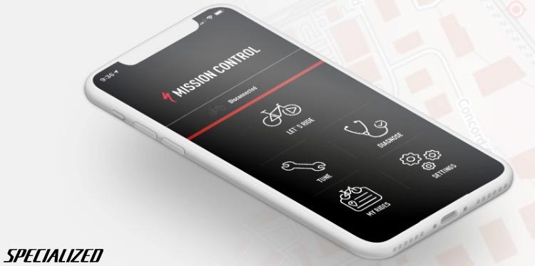 L'app Mission Control di Specialized installata su uno smartphone