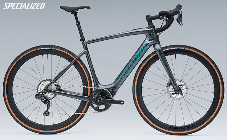 Una bici da strada elettrica Specialized Turbo Creo SL Expert Carbon EVO 2020