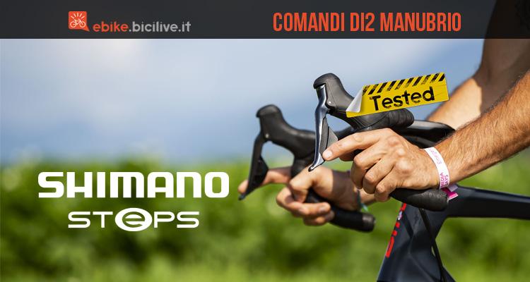 Il test dei comandi Shimano Di2 compatibili con manubrio gravel e strada