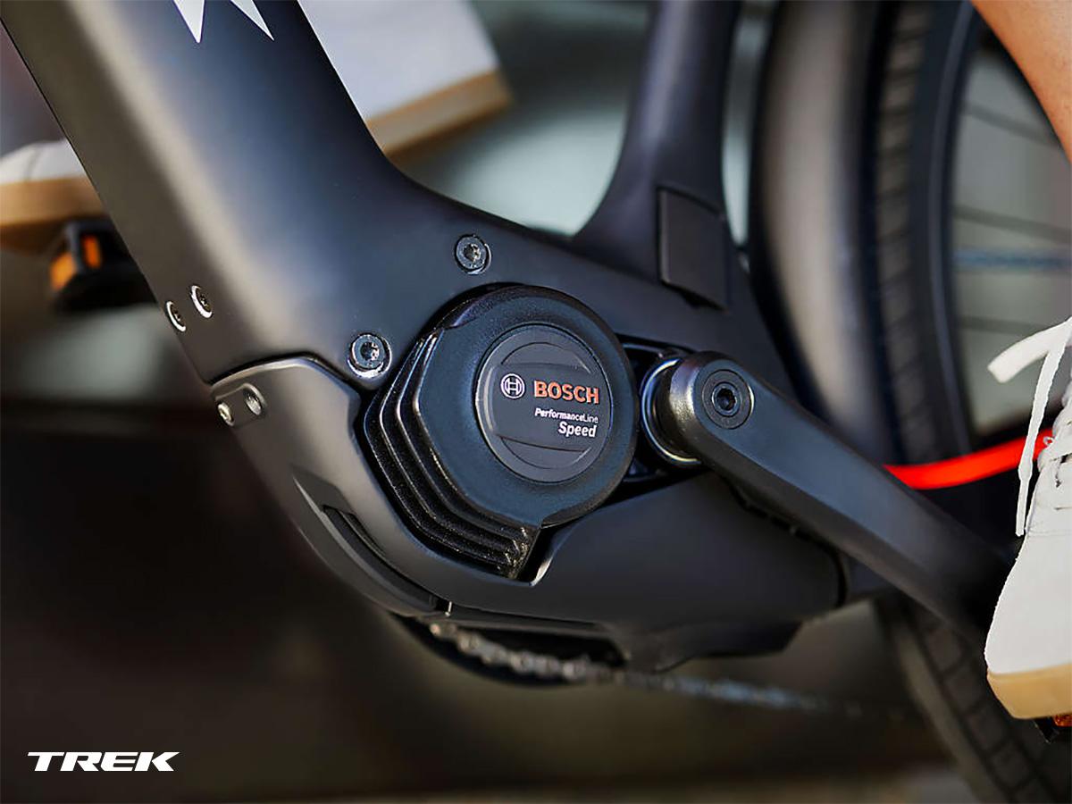 Un motore Bosch Performance Line Speed montato su una ebike Allant+