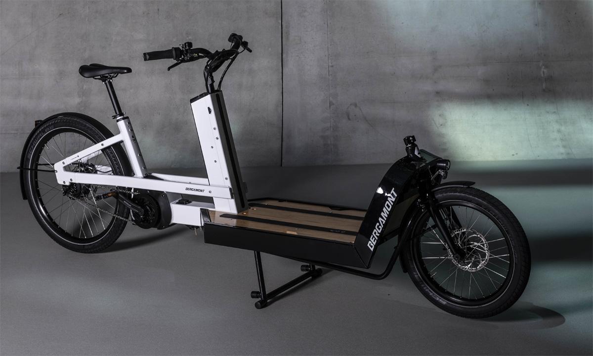Una bici cargo elettrica Bergamont E-Cargoville LJ 70