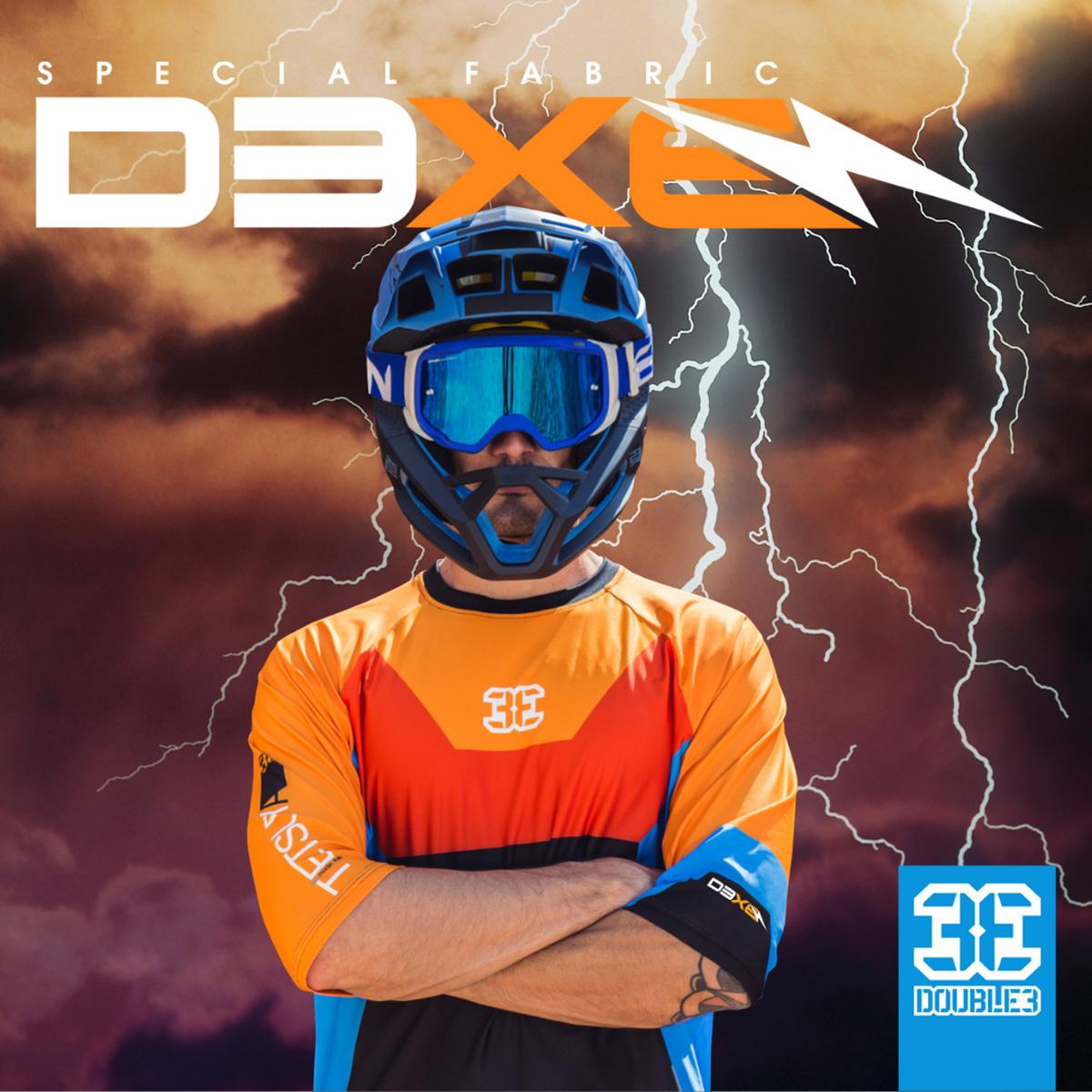 Immagine promozionale per abbigliamento D3xE di Double3