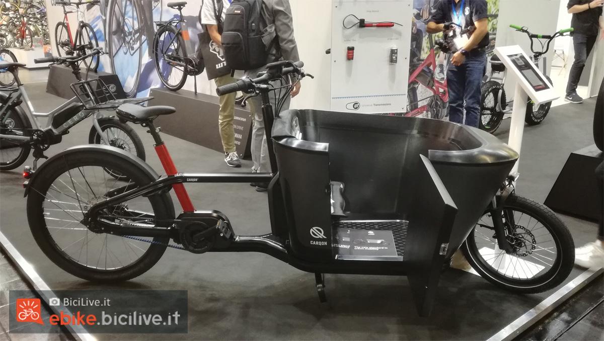 La bicicletta da carico elettrica CarQon 2020 dal gruppo Accell