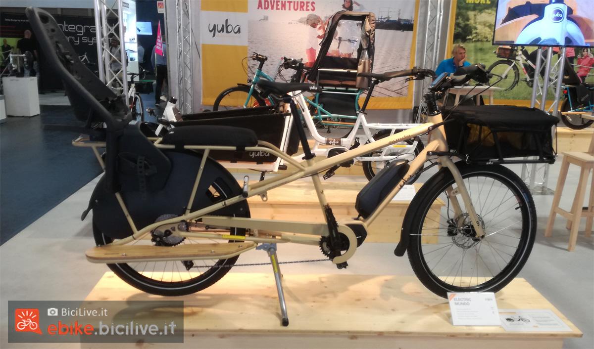 La bici cargo elettrica a pedalata assistita Yuba Electric Mundo 2020