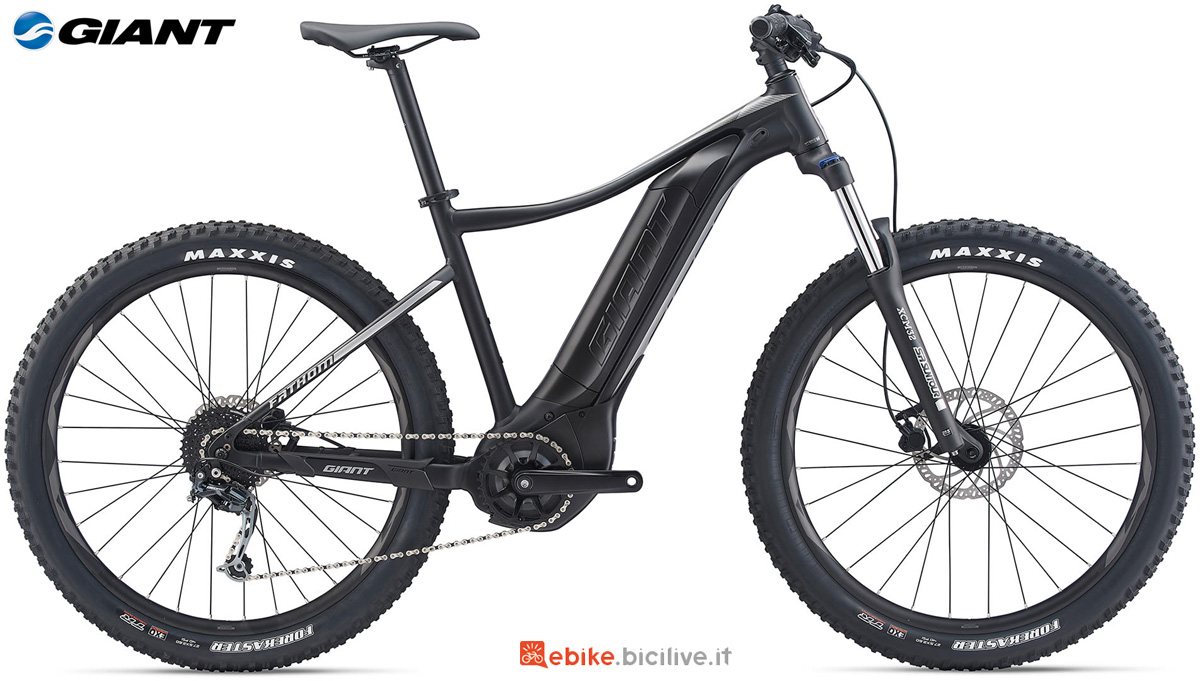 Una eMTB hardtail Giant Fathom E+ 3 POWER gamma 2020