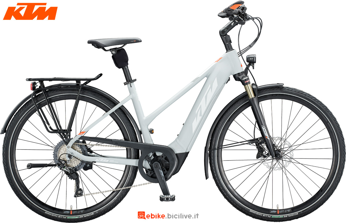 Una e-bike KTM Macina Style 620 nella versione con telaio da donna
