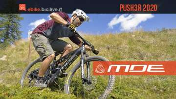 Push3R 2020, la prima e-bike full suspended di MDE