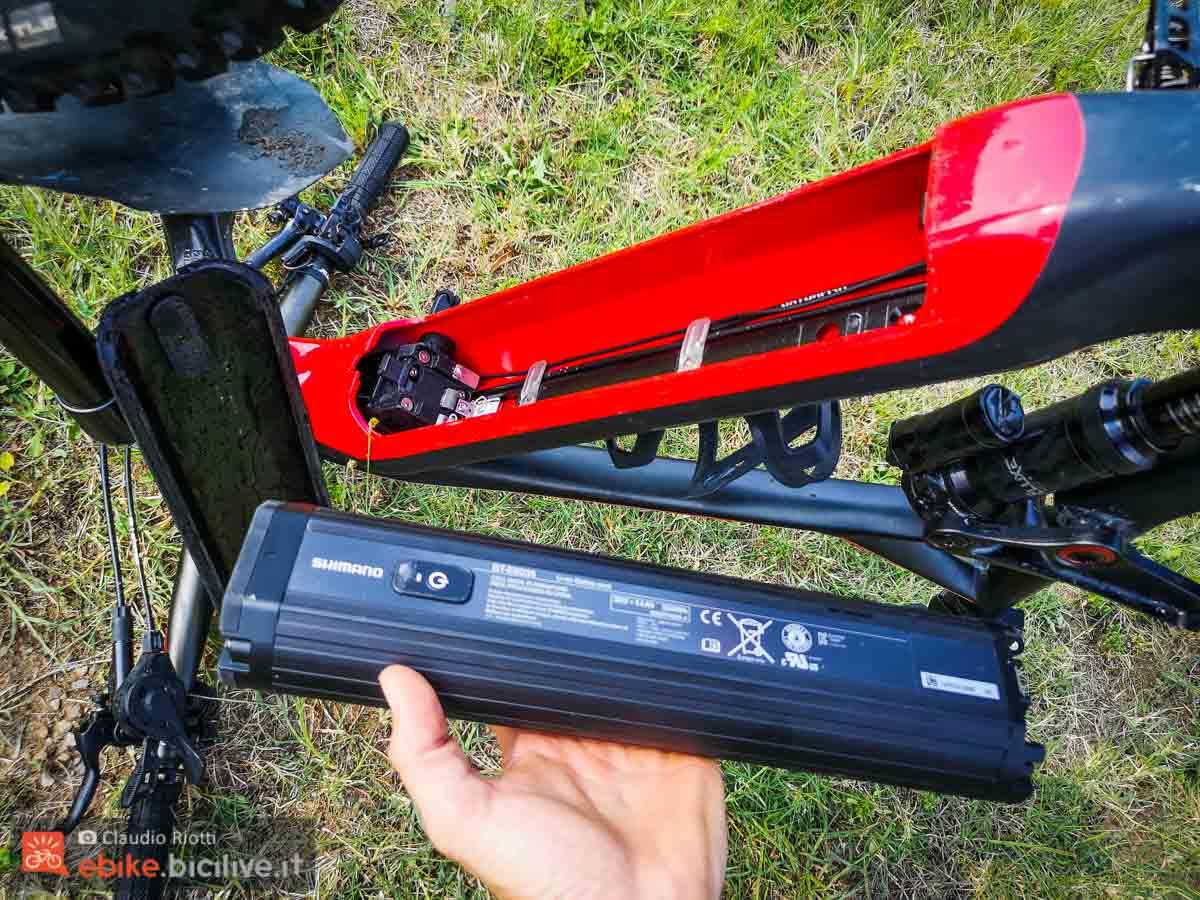 foto della batteria della emtb brinke x5r+