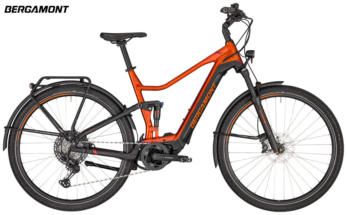 Una e-Trekking biammortizzata Bergamont E-Horizon FS Elite gamma 2020