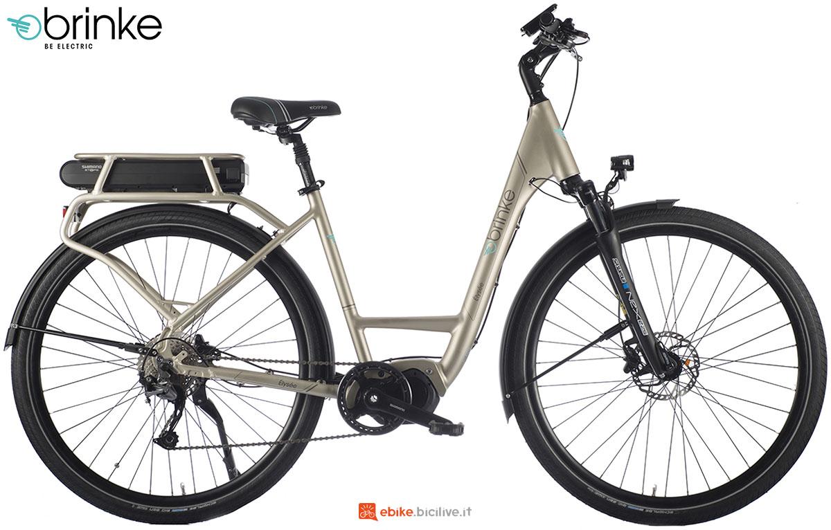 Una bici elettrica urban Brinke Élysee Evo Alivio