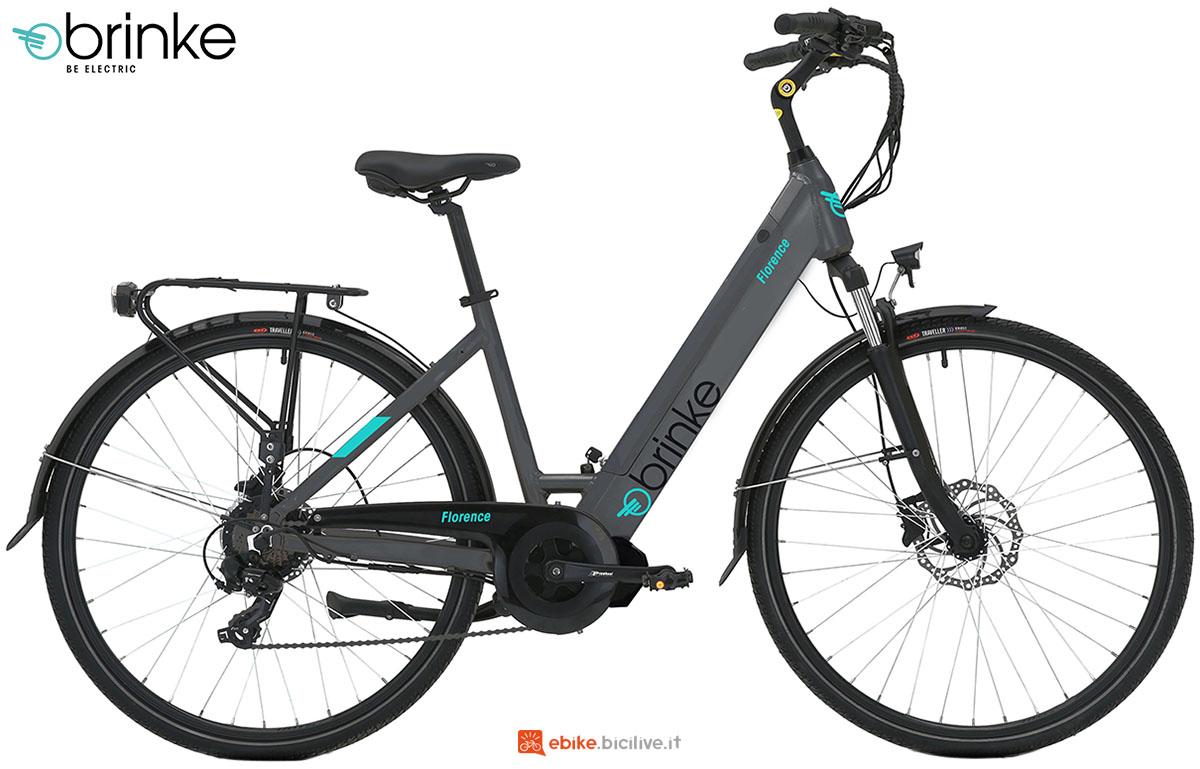 Una ebike a pedalata assistita Brinke Florence 2020