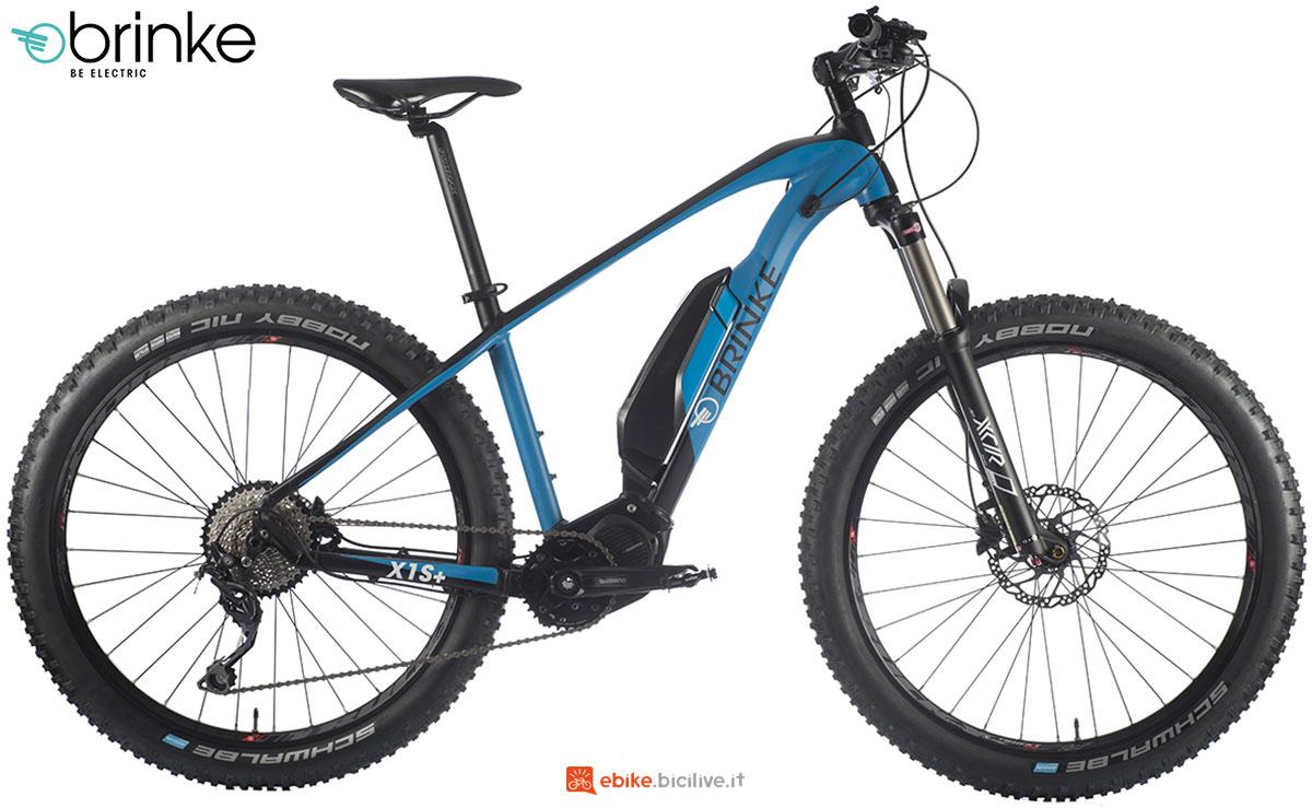 Una mountain bike elettrica front suspended Brinke X1S+ anno 2020