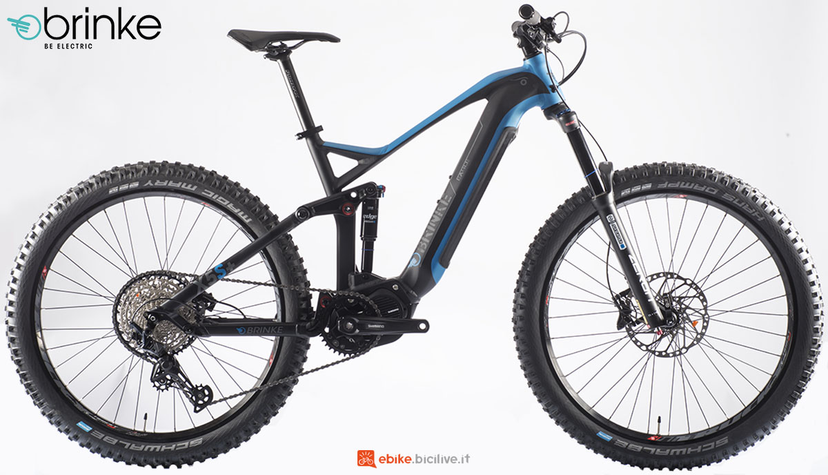 Una mountain bike a pedalata assistita Brinke X5S+ anno 2020