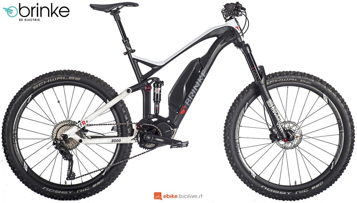 Una mtb a pedalata assistita full suspended Brinke XFR+ gamma 2020