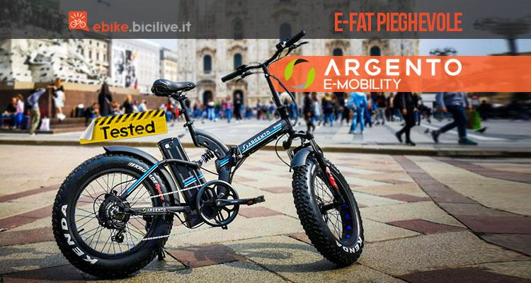 Test fat bike elettrica pieghevole Argento Bike Bi Max