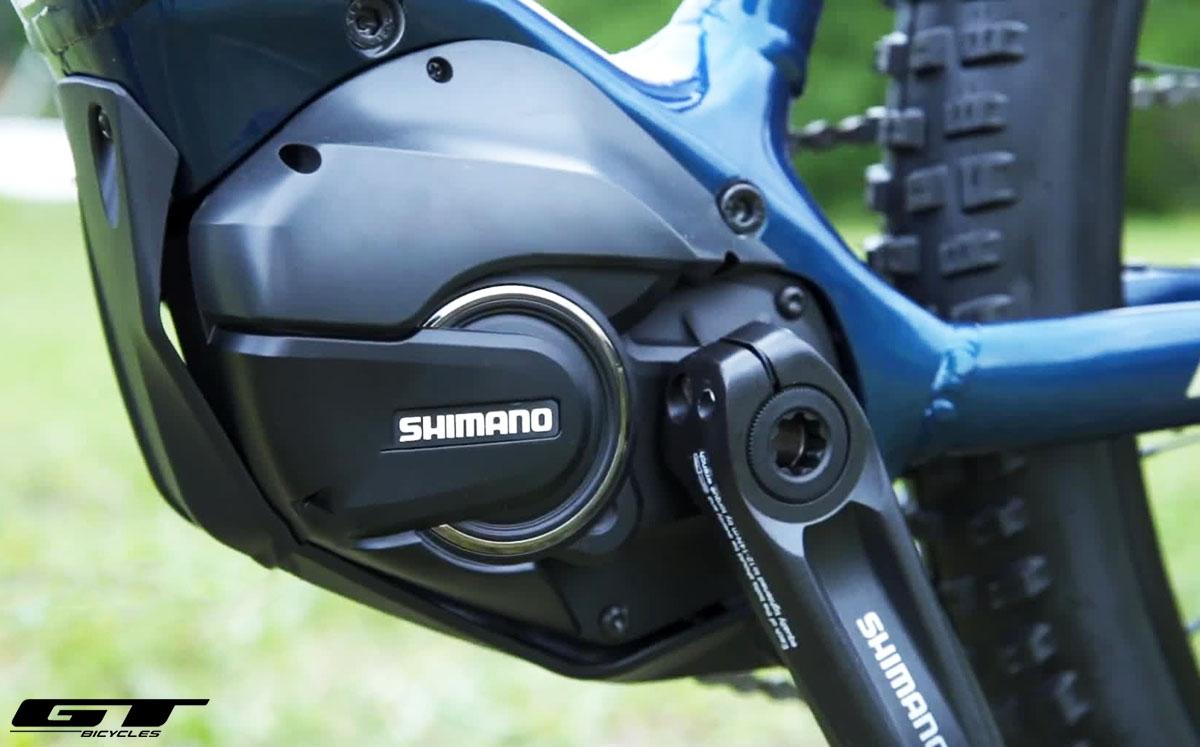 La bici GT-E Pantera Bolt con montato il motore Shimano STEPS DU-E8000 da 250W 2020