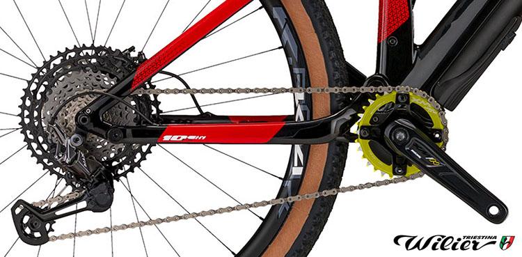 La bici emtb 101FX Hybrid Wilier Triestina con montata la nuova trasmissione Shimano XTR a 11 velocità 2020