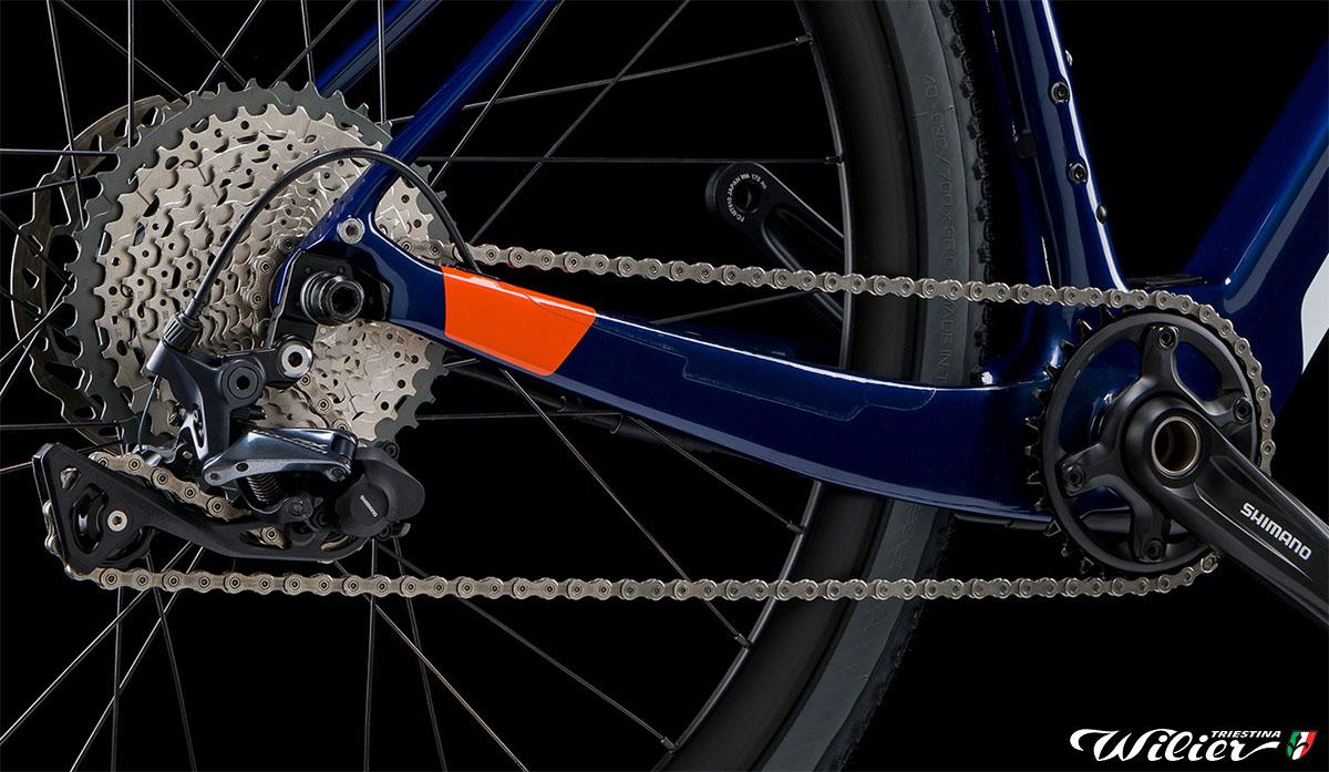 La bici Ebike Jena Hybrid di Wilier Triestina che monta una trasmissione Shimano a 11 velocità