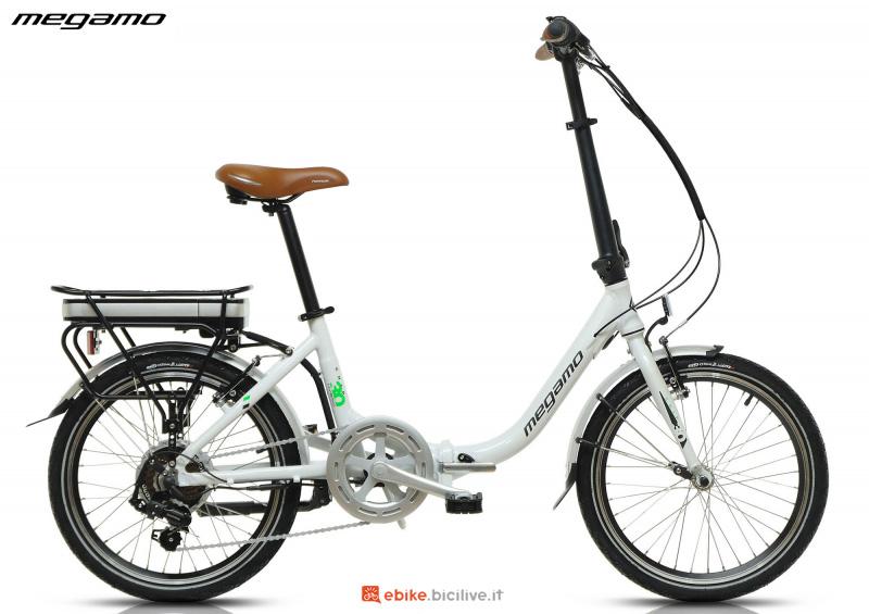 Una bici elettrica foldable Megamo Chip 3.0 catalogo 2020