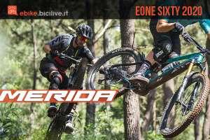 Merida eOne-Sixty 2020: una eMTB full suspended rivoluzionata