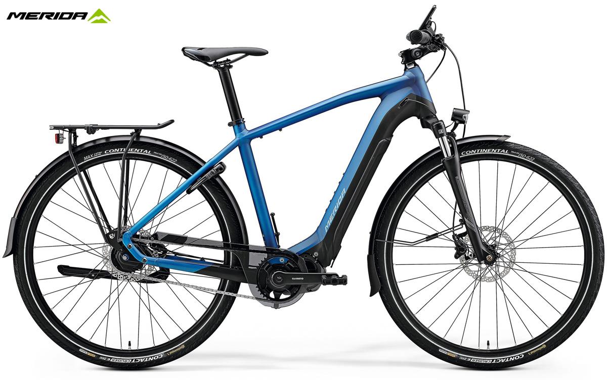 Una bici e-Trekking Merida eSPRESSO 700 EQ gamma 2020