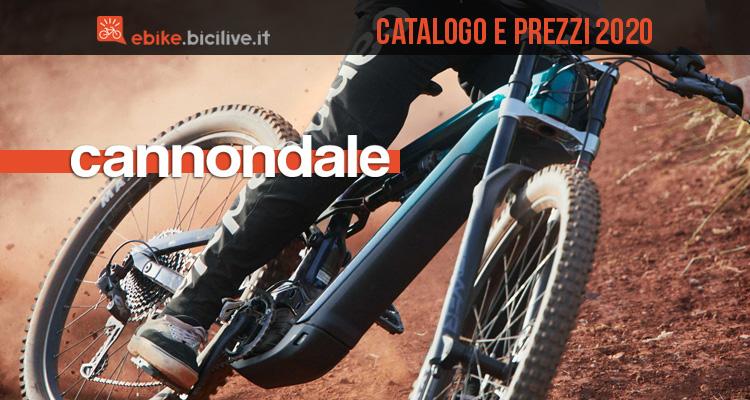 Cannondale bici elettriche 2020: catalogo e listino prezzi e-bike