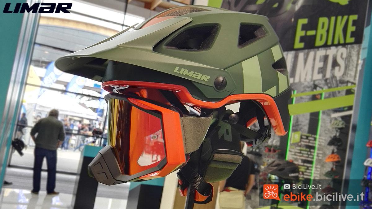 Il Casco Limar Delta con maschera presente all'Eurobike 2019