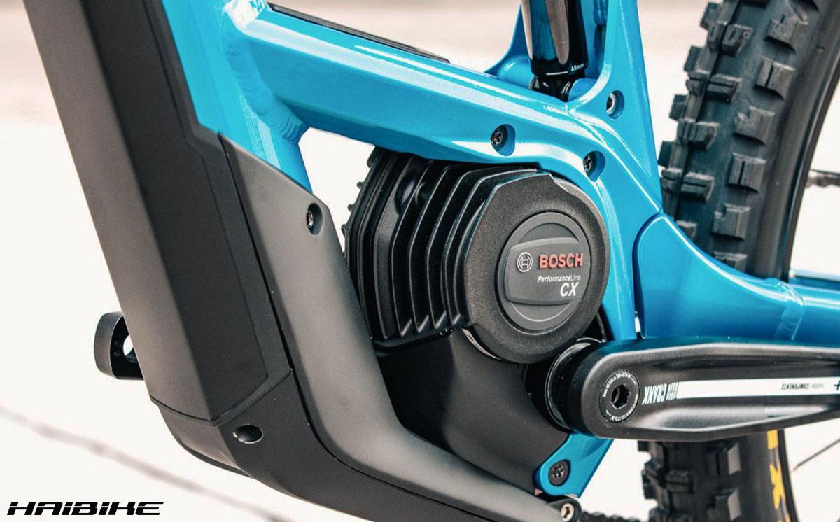 La bici ebike haibike con montato il nuovo motore Bosch Performance Line CX da 250W 2020