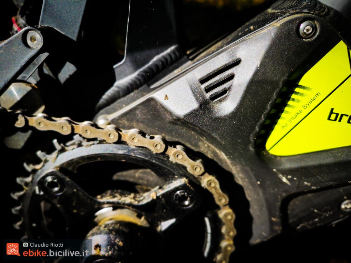 foto delle prese d'aria della copertura del motore Brose S Mag.