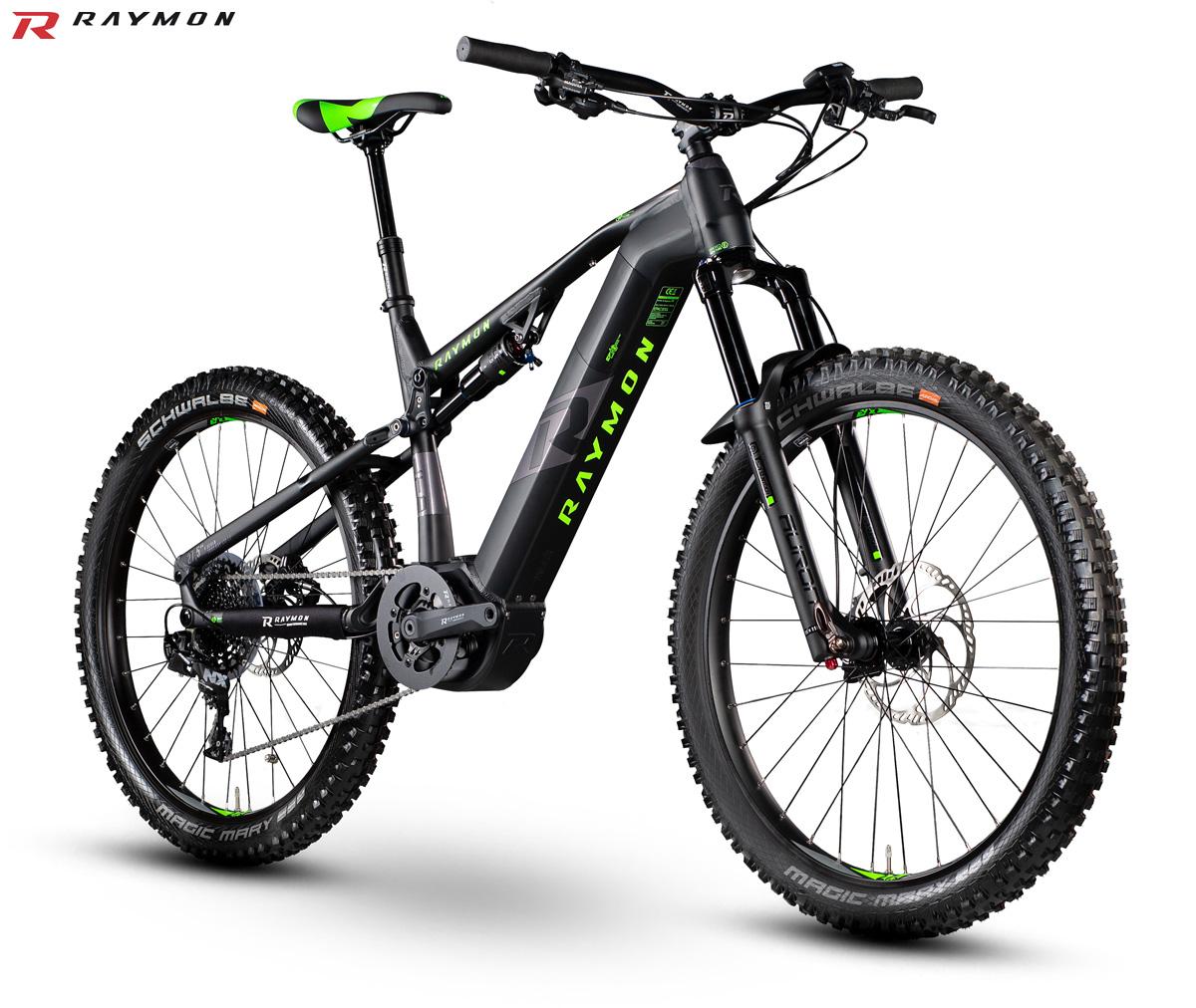 Una bici elettrica biammortizzata E-Seven Trail Ray LTD 1.0 gamma 2020