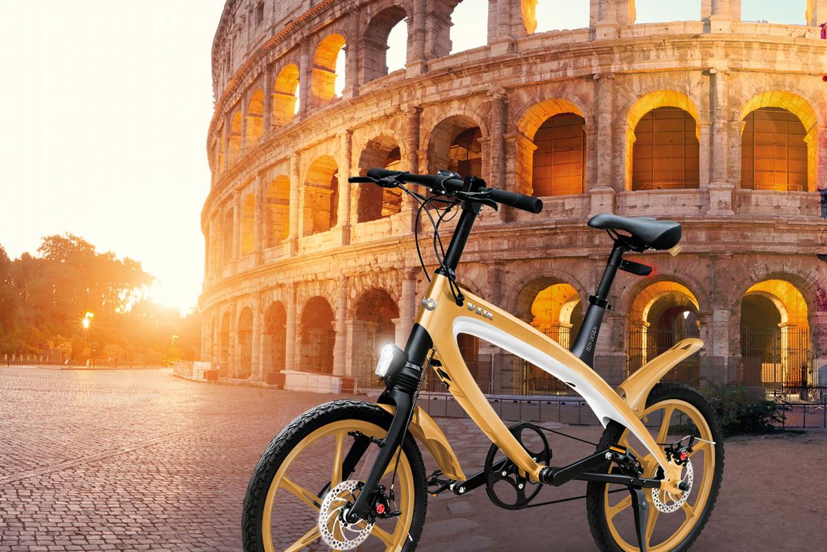 Una bicicletta a pedalata assistita V-ITA E-Volution