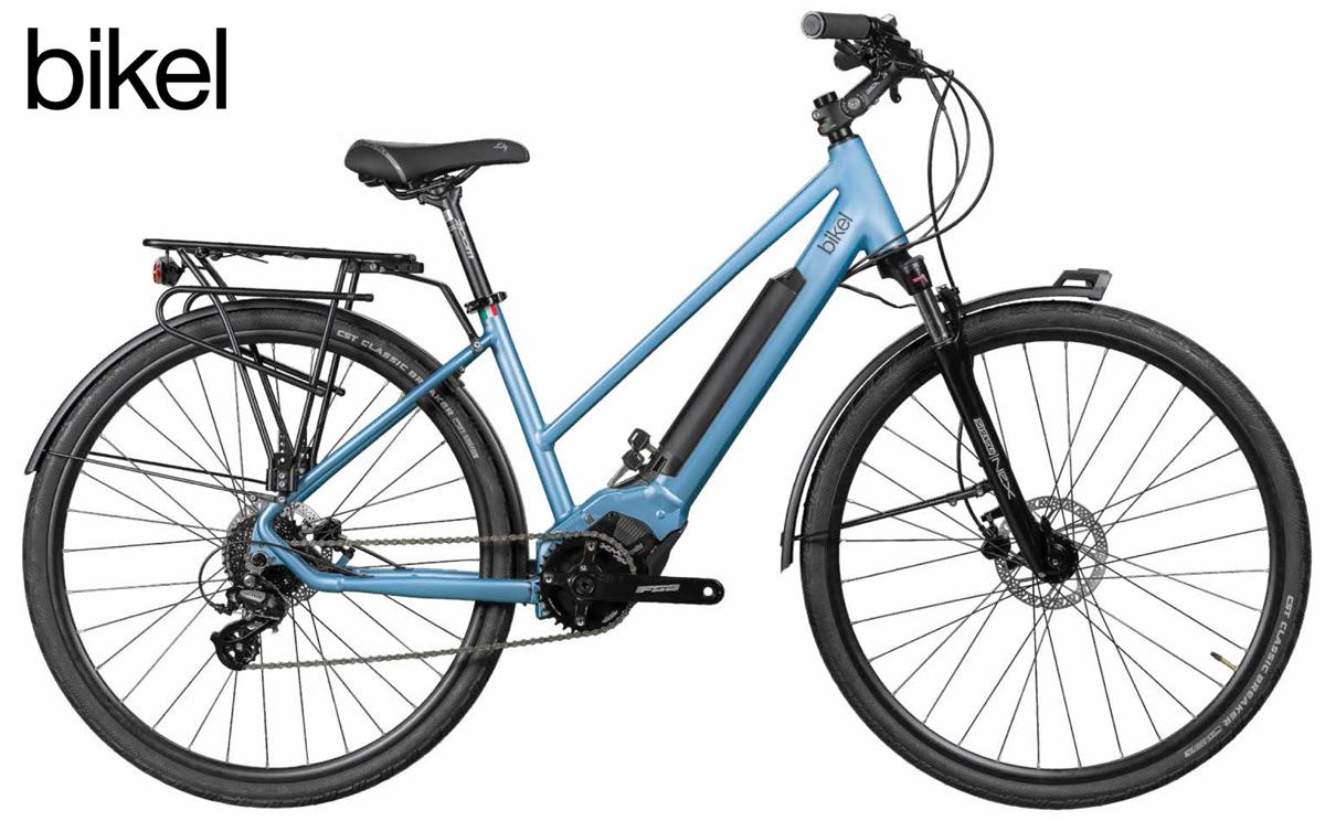 Una bicicletta a pedalata assistita Bikel Lady 2020 con drive unit Polini E-P3