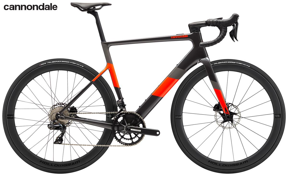 Una bici elettrica da strada Cannondale SuperSix EVO Neo 1 2020