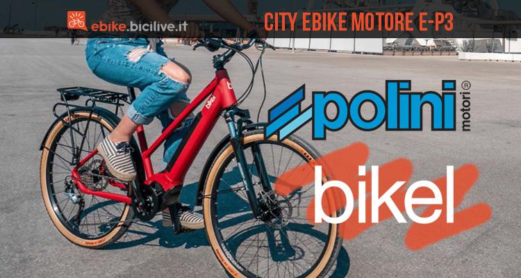 City e-bike Bikel 2020 con motori Polini E-P3