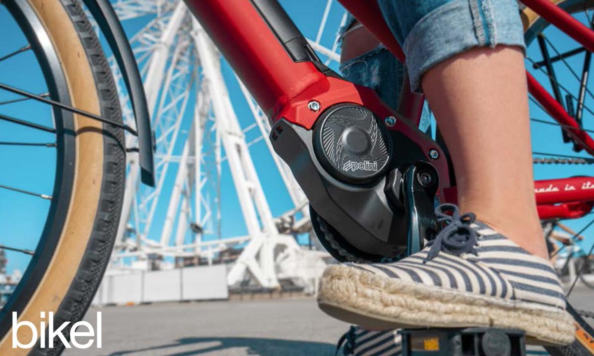 Il motore centrale Polini E-P3 equipaggiato sulla city ebike Bikel Lady+ 2020