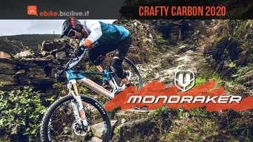 Mondraker Crafty Carbon 2020: e-MTB biammortizzata da enduro