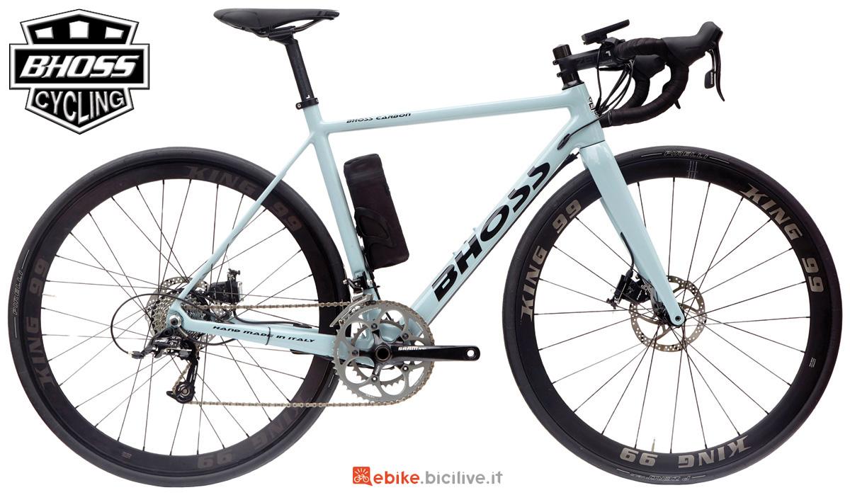 Una bici a pedalata assistita da strada Bhoss R6