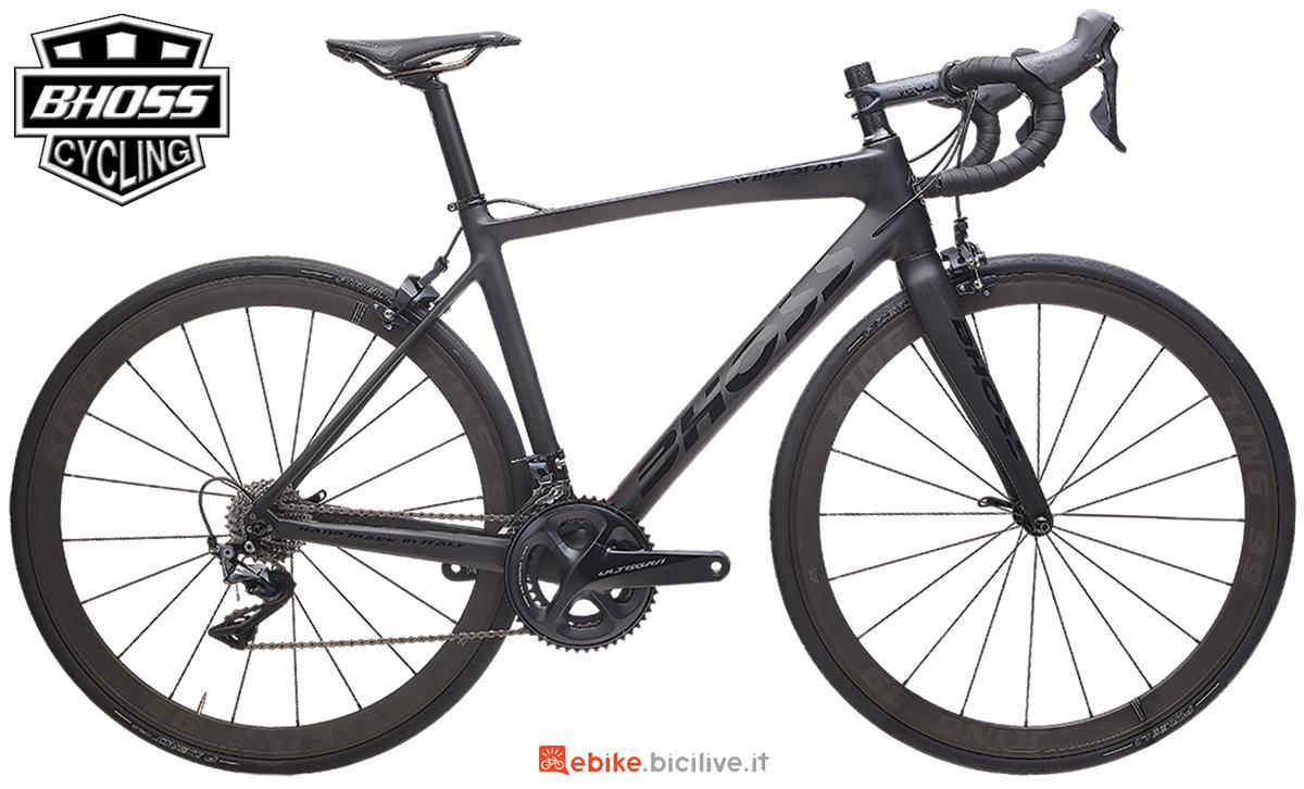 Una bici elettrica da strada Bhoss Wind Star anno 2020