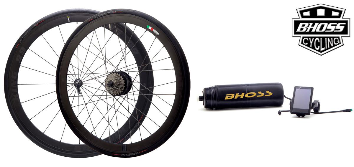 Un Kit Bhoss per la trasformazione in bici elettrica