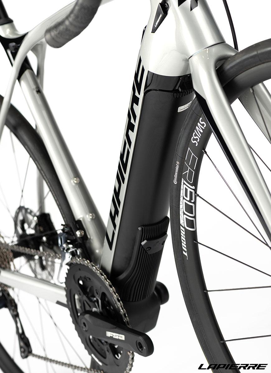 Il dettaglio del telaio e forcella della bici Lapierre eXelius SL 600 2020