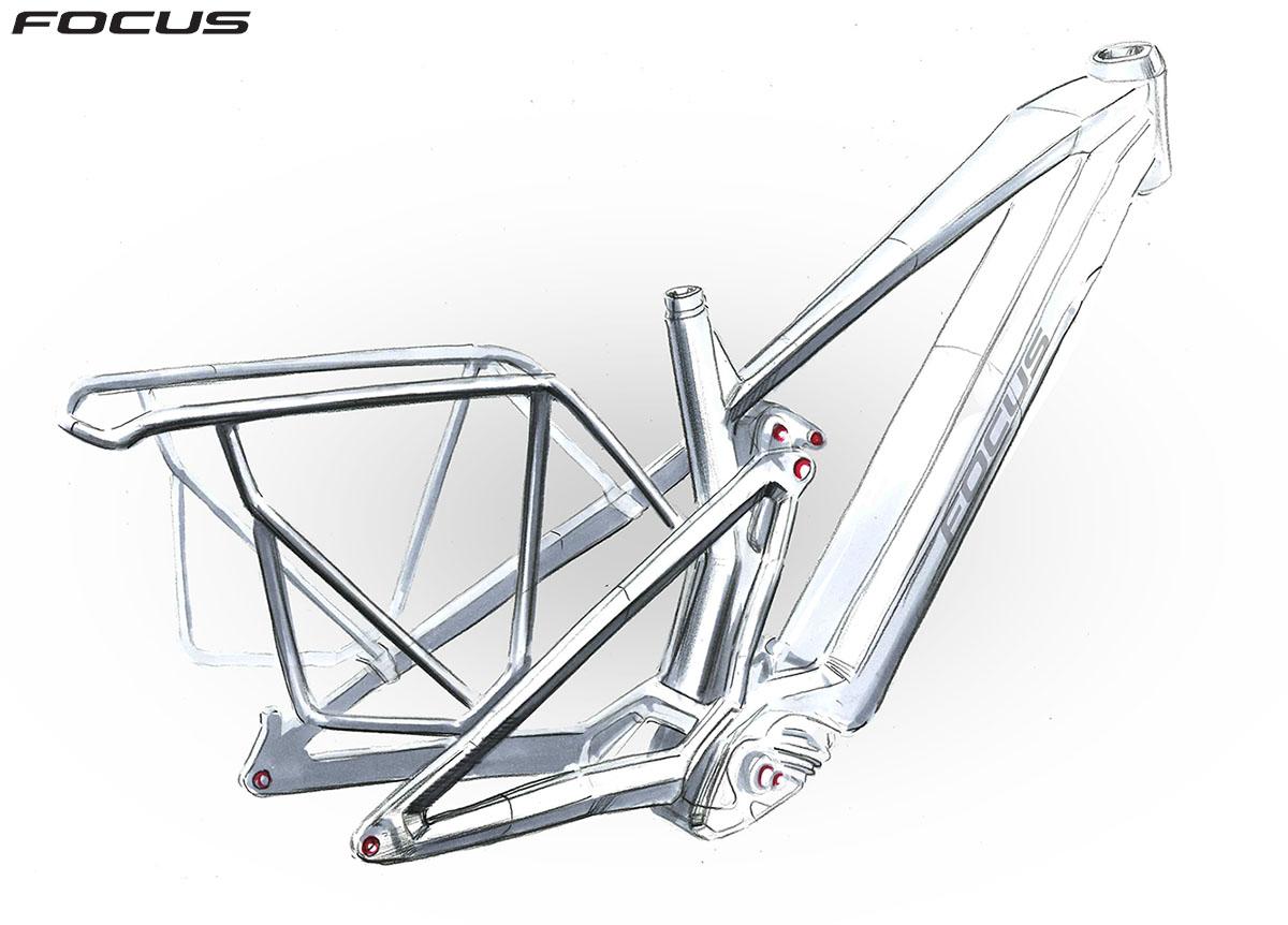 Il telaio dei modelli EQP dell'ebike Focus Thron2 2020