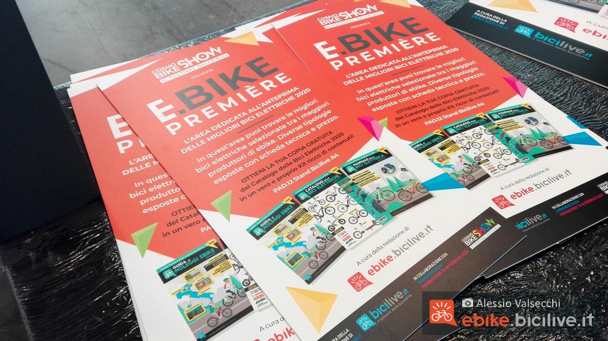 Cartelloni pubblicitari di eBike Première 2020