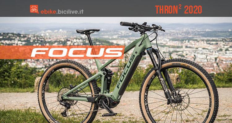 Focus Thron 2 2020: e-MTB full suspended da trail