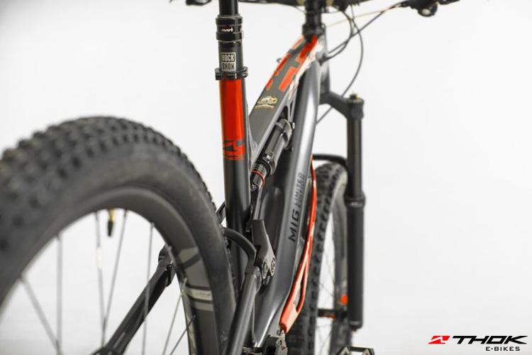 La mountain bike elettrica Thok che Marco Melandri guiderà nel prossimo campionato e-Enduro.