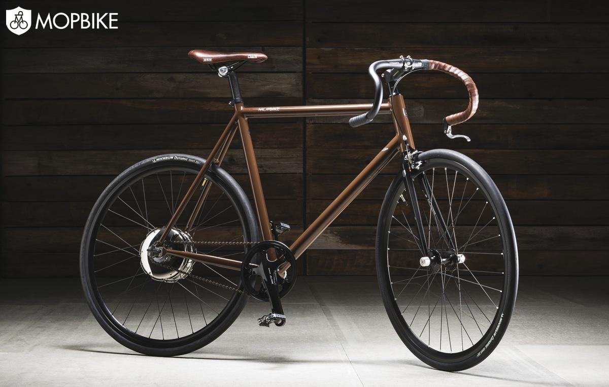 """La bicicletta elettrica """"H"""" Hybrid Chocolate di Mopbike"""