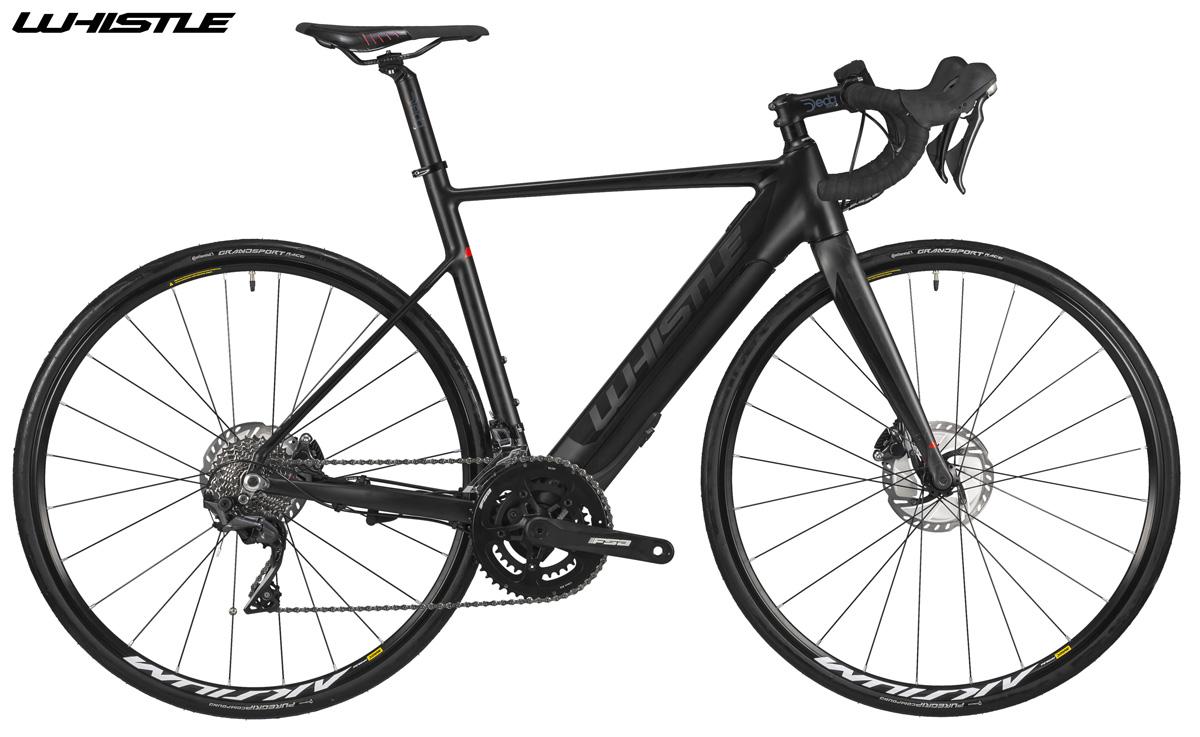 La versione nera della e-bike da corsa Whistle Flow Alloy 2020