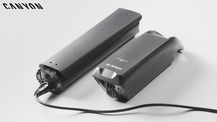Una batteria Bosch Powertube 500 montata sulla e-Trekking Pathlite:ON 2020